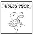 cute sketch bunny for coloring vector image vector image