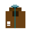delivery cardboard boxes vector image