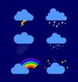 different weather rain storm vector image vector image