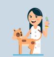 domestic cat vaccination vector image