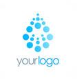 dot water drop logo vector image