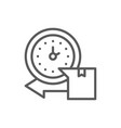 express delivery watch with box line icon vector image