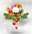 festive pine cones and holly vector image vector image