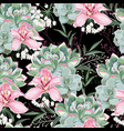 floral pattern delicate flower wallpaper vector image vector image