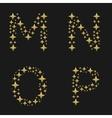 Golden sparkles alphabet vector image vector image