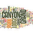 grand canyon lodge text background word cloud vector image vector image