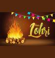 happy lohri banner greeting card punjabi vector image vector image