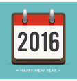 happy new year 2016 card calendar vector image vector image