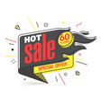 hot sale special offer banner template in flat vector image vector image