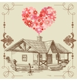 house love vector image vector image