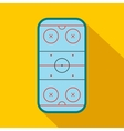 Ice hockey rink flat icon vector image