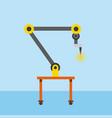 industrial welding robotic arm for automotive vector image