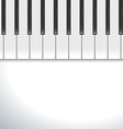 keyboard piano vector image vector image