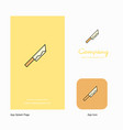 knife company logo app icon and splash page vector image
