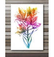 Lily flowers on white background Colorful vector image