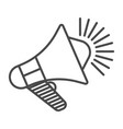 megaphone linear icon isolated vector image vector image