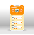 orange yellow chat book ui ux gui screen for vector image vector image