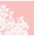 pastel floral frame vector image vector image