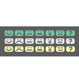Pixel style smiles set vector image