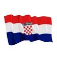 political waving flag of croatia