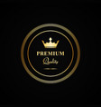 premium quality gold badge vector image