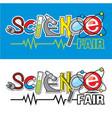 science fair logo vector image vector image