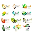 Set of abstract leaves vector image vector image