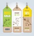 tags for clothing template whith cotton vector image vector image