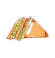tasty sandwich isolated icon vector image