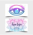 true love yoga studio card design colorful vector image