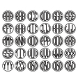 Vantage Monogram Alphabet Labels Badges vector image