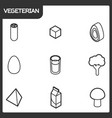 vegeterian outline isometric icons vector image vector image