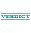 Verdict Watermark Stamp vector image vector image