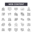web content line icons signs set linear vector image vector image
