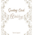 wedding greeting card with rococo texture pattern vector image vector image