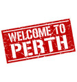 welcome to perth stamp vector image vector image