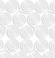 White paper 3D three spirals vector image vector image