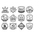 wild forest and african animals hunt club icons vector image vector image