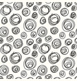 spiral hand drawing simple seamless pattern vector image