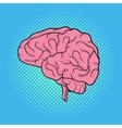 hand drawn pop art of brain Retro style vector image