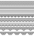 vintage seamless border with lace texture vector image