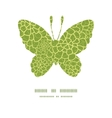 abstract green natural texture butterfly vector image
