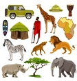 Africa Icons Set vector image