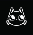 black cat with big eyes vector image