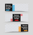black horizontal web banner template with place vector image vector image