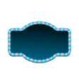 Blank 3d retro light banner with shining lights vector image