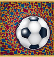 blue and pomegranate background with football ball vector image