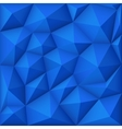 Blue mosaic polygon triangular background vector image