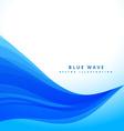 blue wavy flowing lines background design vector image vector image