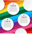 bright infographics three steps white round vector image